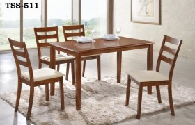 TSS-511-DIRTY OAK DINING SET